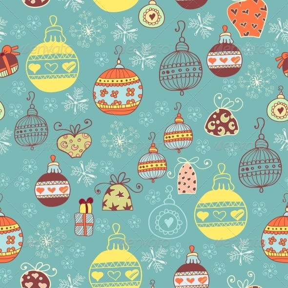 GraphicRiver Christmas Seamless Pattern with Xmas Toys 6308951
