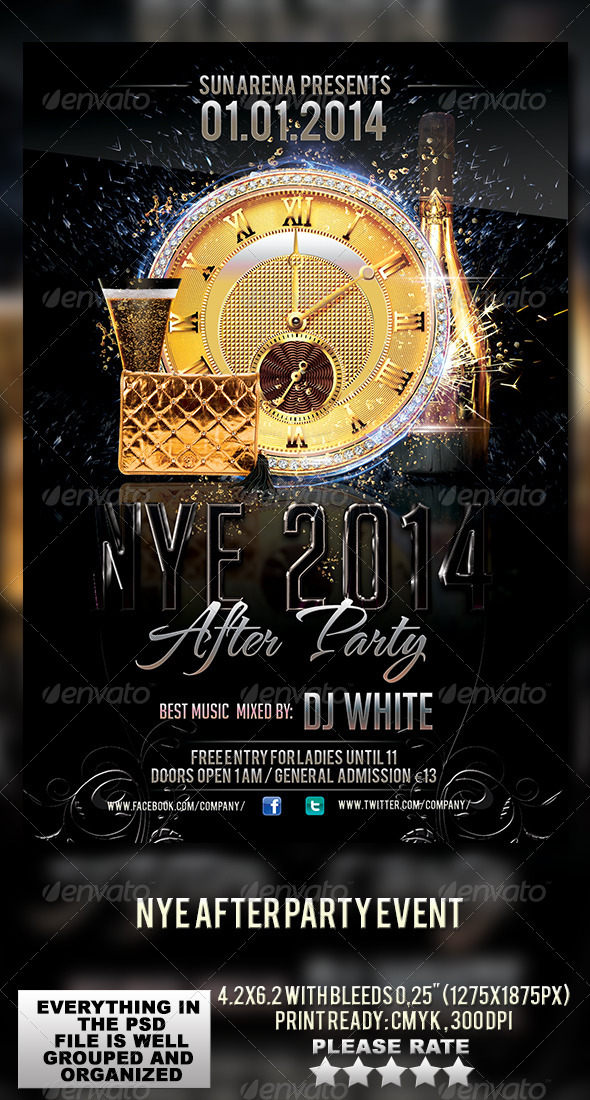 GraphicRiver NYE After Party Event 6309027