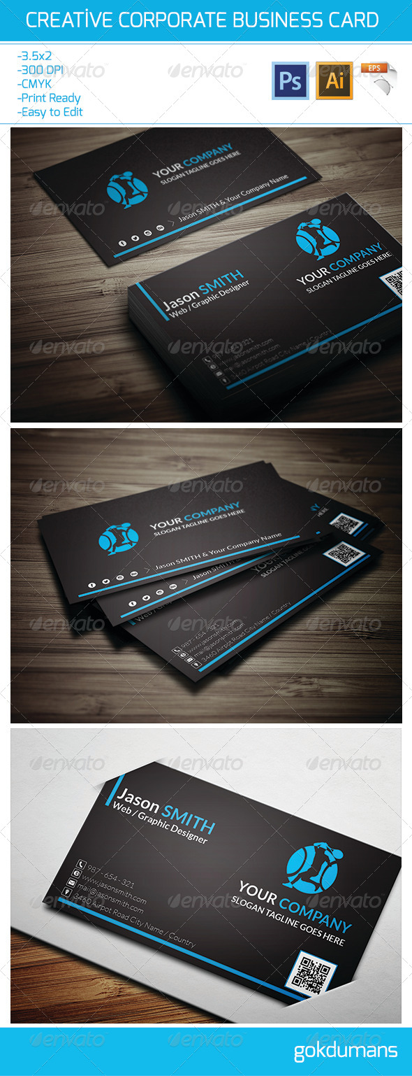 GraphicRiver Creative Corporate Business Card 19 6298288