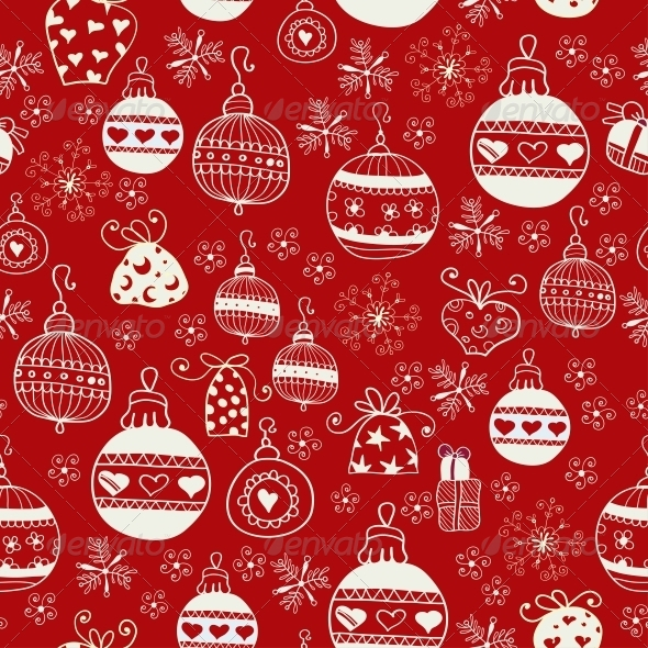 GraphicRiver Red Christmas Seamless Pattern 6309123