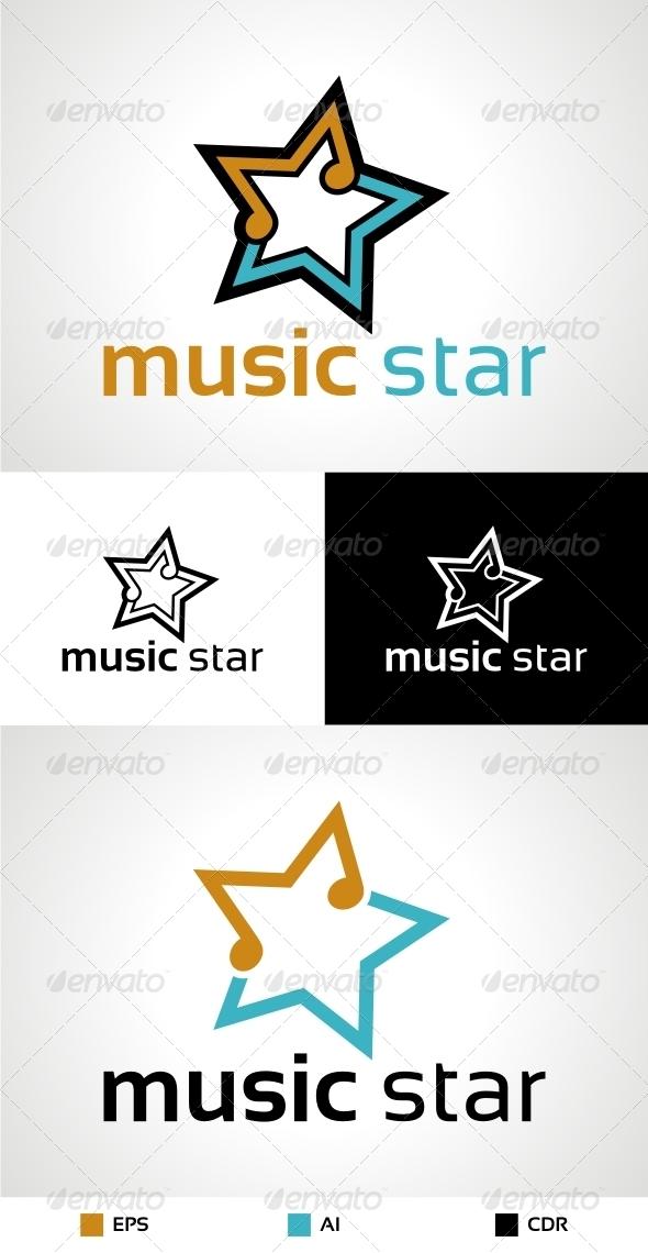 GraphicRiver Music Star Logo 6309154