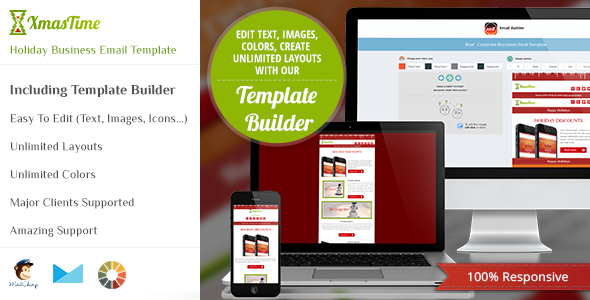 ThemeForest XmasTime Holiday Business Email Template HTML 6309170