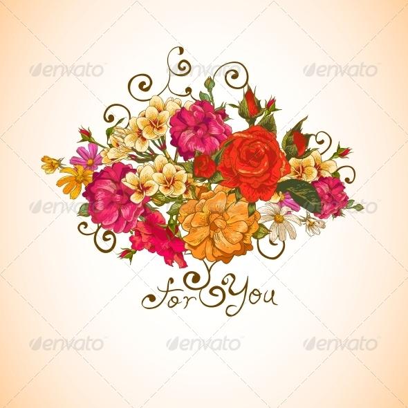 GraphicRiver Floral Ornament Vintage Vignette 6309179