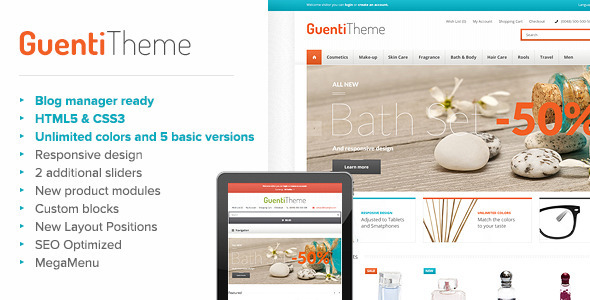 ThemeForest Guenti Modern & Responsive OpenCart Theme 6309196