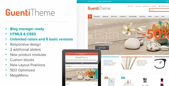 ThemeForest Guenti Modern & Responsive OpenCart Theme 6309196