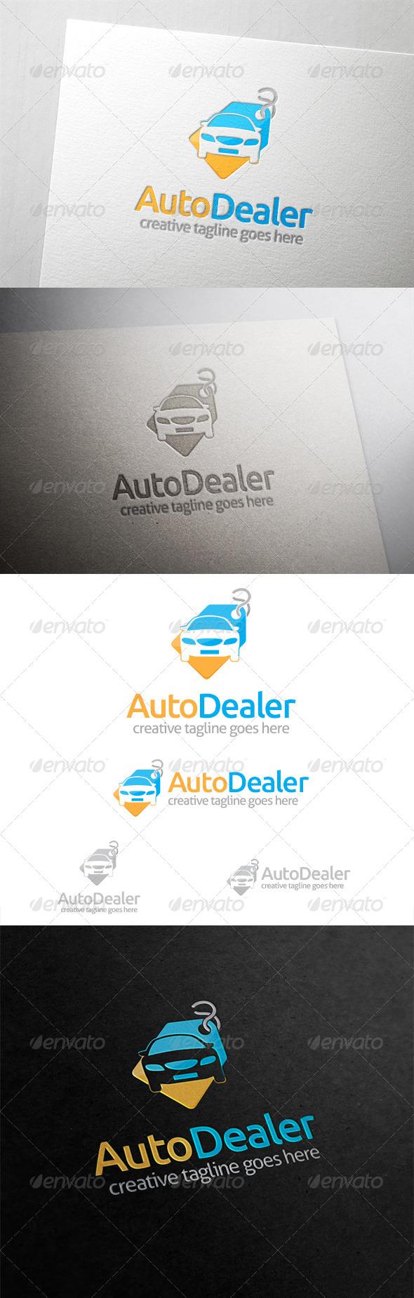 GraphicRiver Auto Dealer Car Tag Logo 6309790