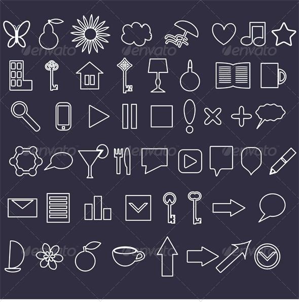 GraphicRiver Icons Set 6309885