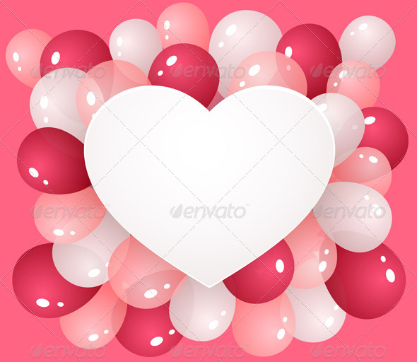 GraphicRiver Heart with Balloons 6310096