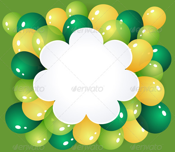 GraphicRiver Flower Frame with Balloons 6310103