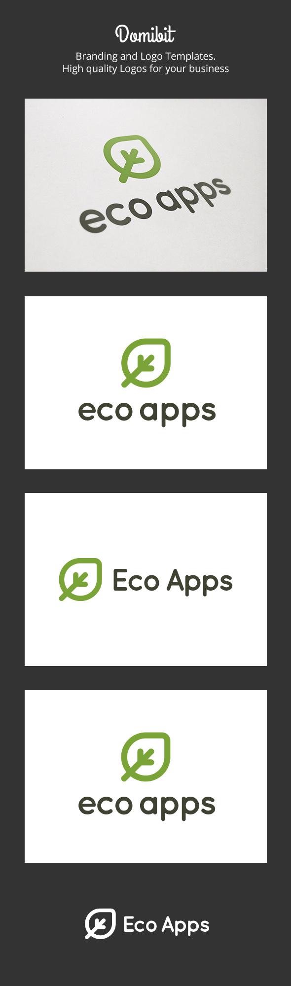 GraphicRiver Eco Apps Logo 6310130