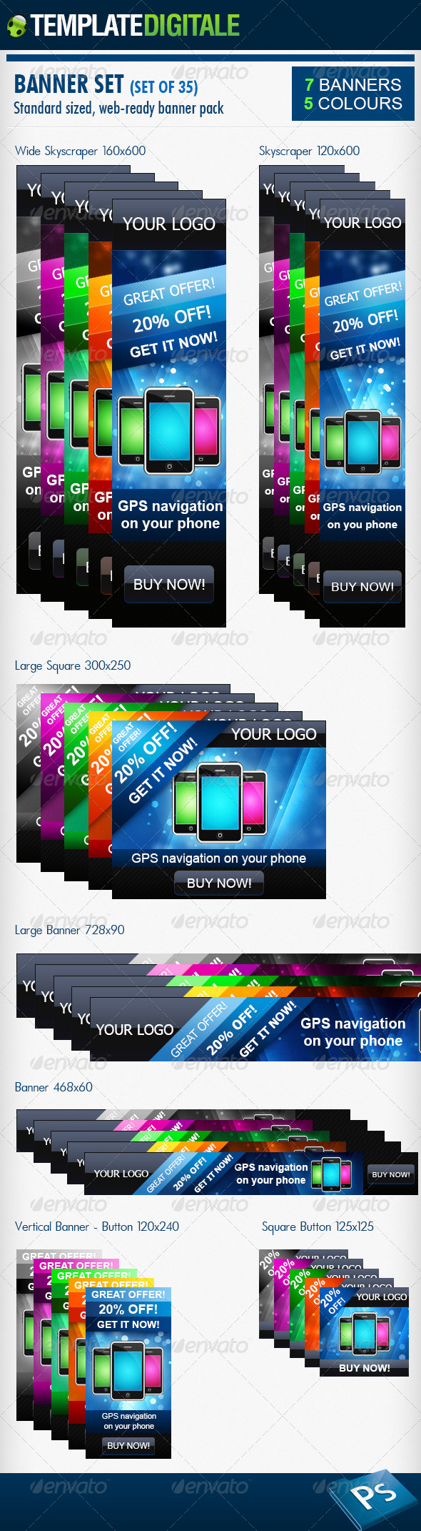 GraphicRiver 35 Web Banner Pack 6310142