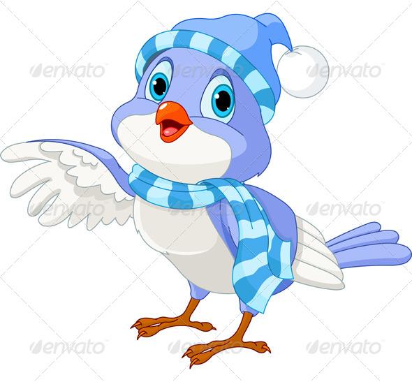 GraphicRiver Cute Winter Bird 6311007
