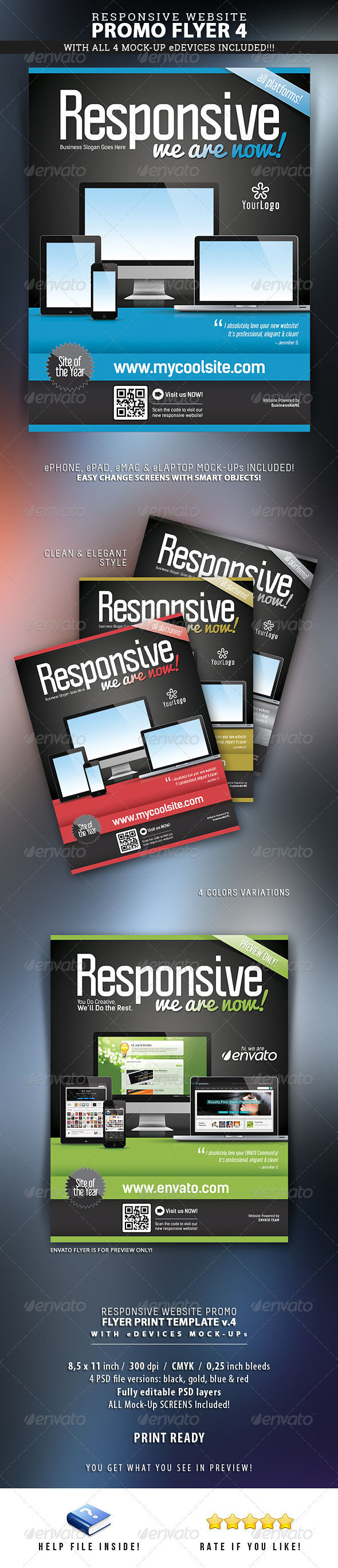 GraphicRiver Website Responsive Flyers Template 4 6311029