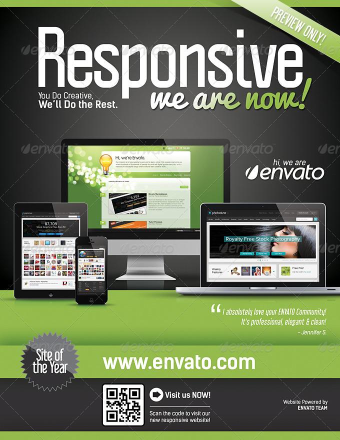 Website Responsive Flyers Template 4 by LevelStudio – Web Flyer