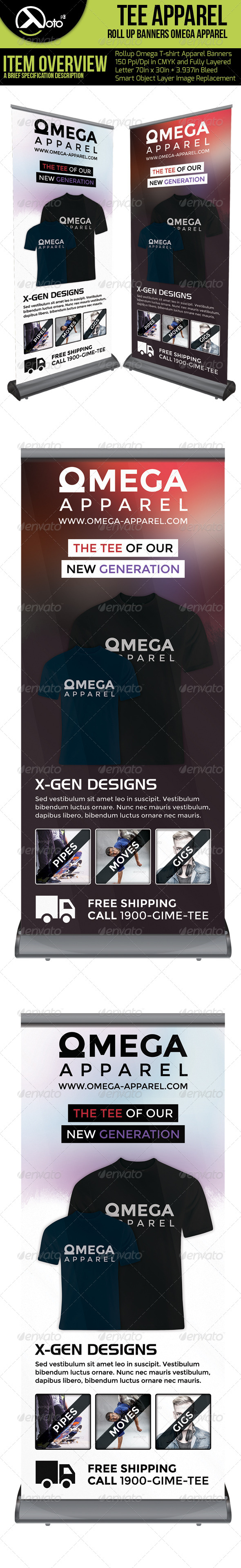 GraphicRiver Omega Tee Apparel Roll Up Banners 6311088
