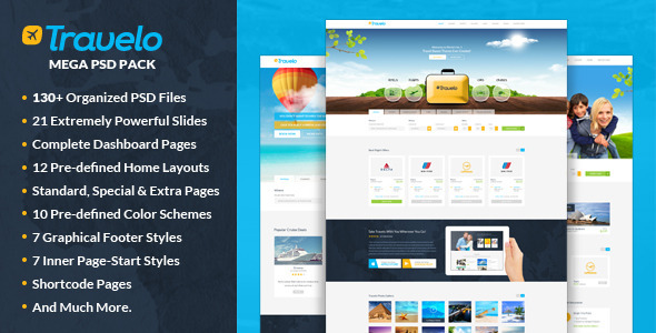 Travelo - Mega PSD Pack - Travel Retail