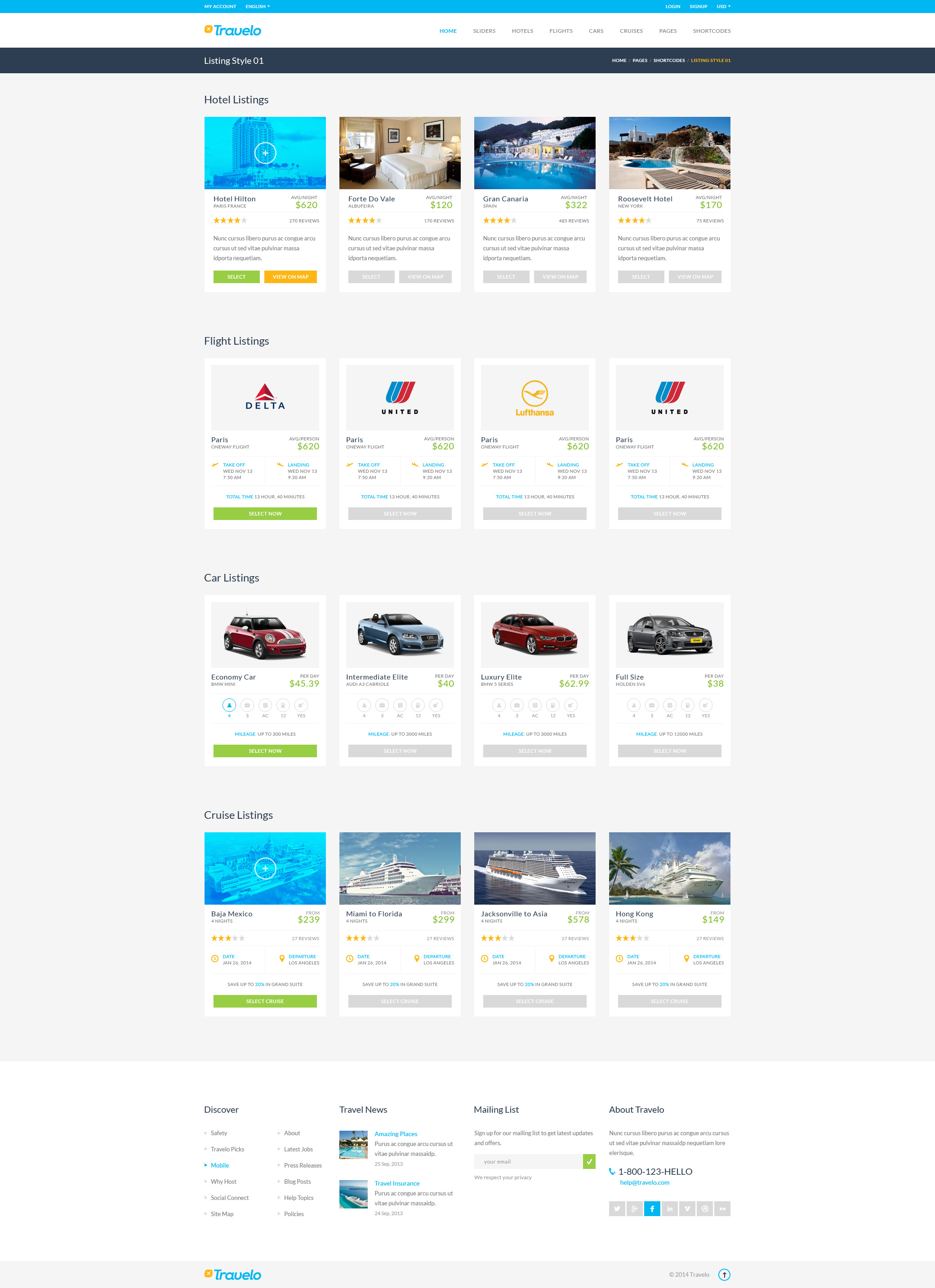 Travelo - Mega PSD Pack