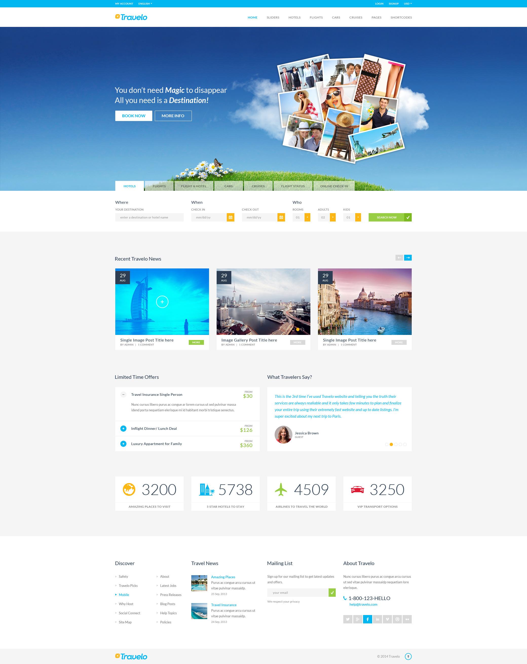 Travelo - Mega PSD Pack