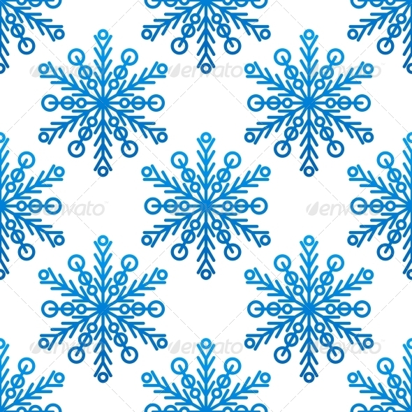 GraphicRiver Snowflake Seamless Pattern 6311203
