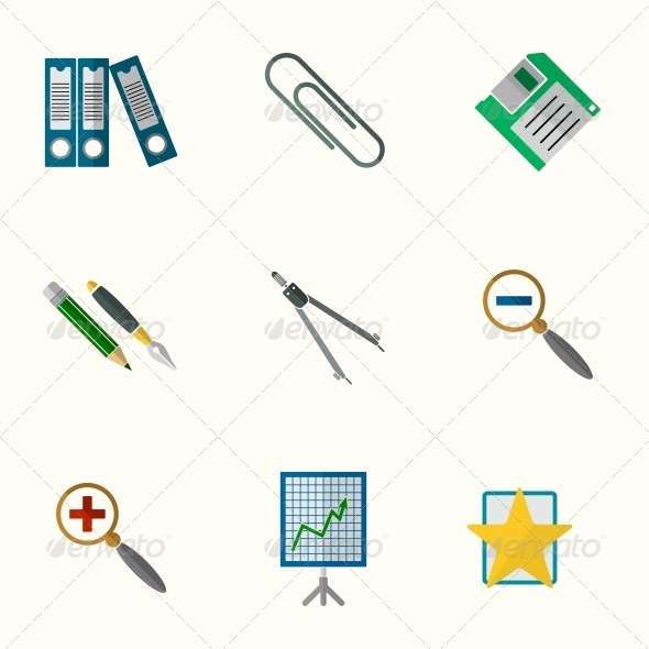 GraphicRiver Universal Flat Icons 6311204