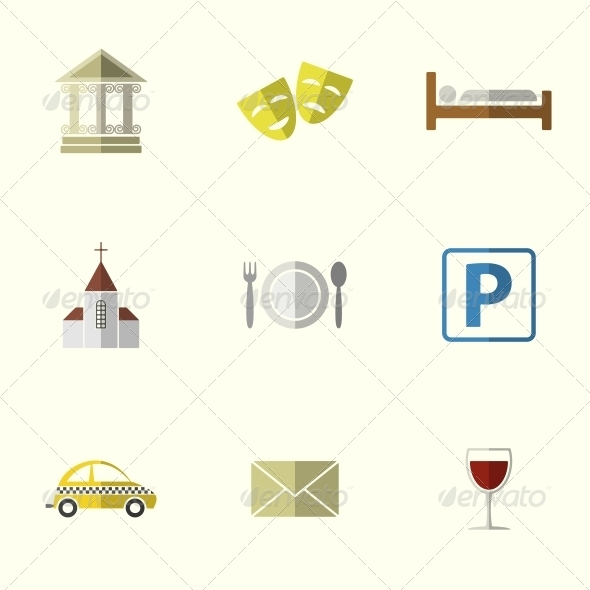 GraphicRiver Travel Flat Icons 6311207