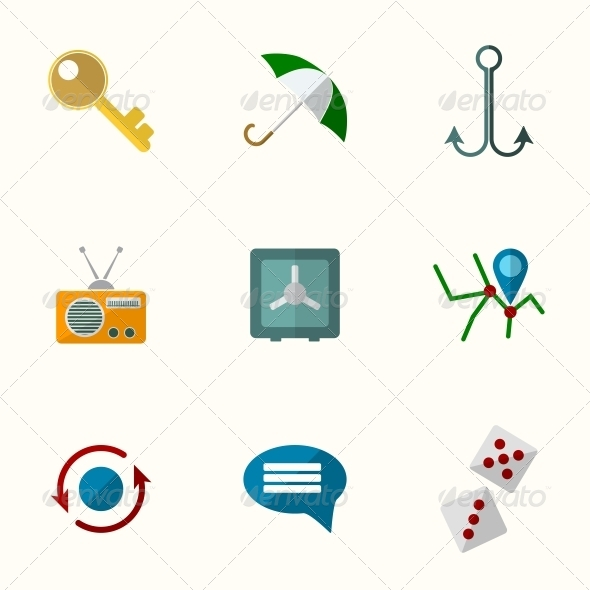 GraphicRiver Universal Flat Icons 6311208