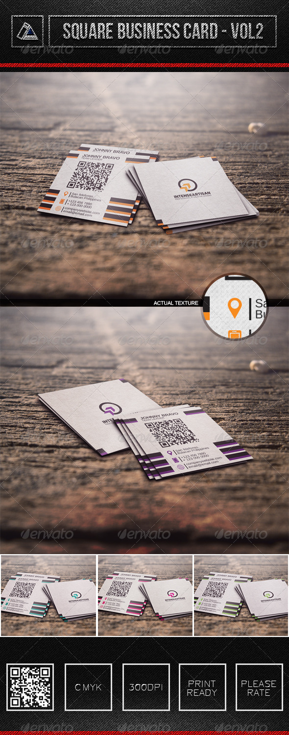 GraphicRiver Square Business Card Vol2 6311345