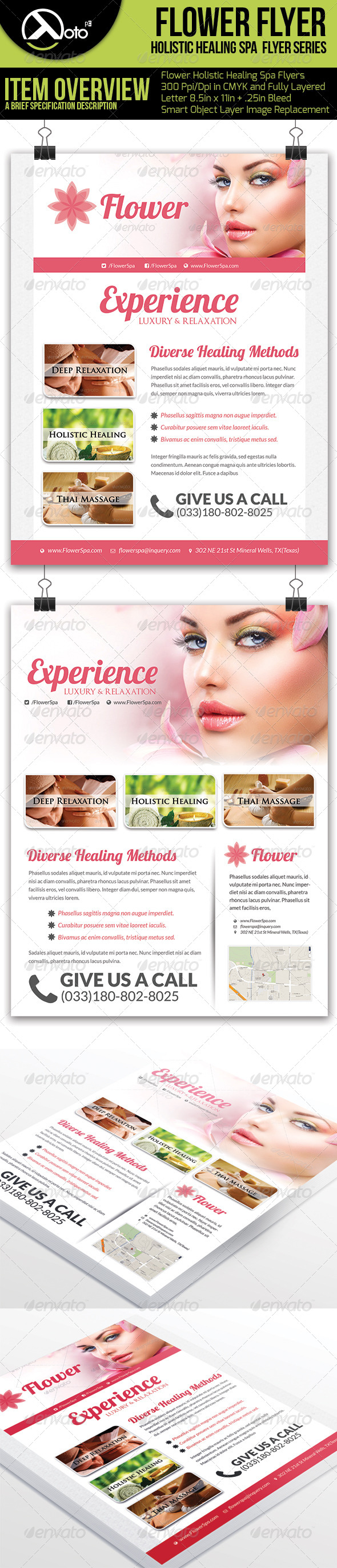 GraphicRiver Holistic Healing Spa Flyers 6311426