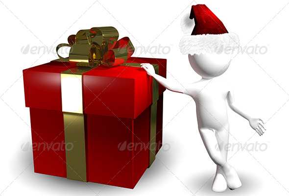 GraphicRiver Santa with a Gift 6311950