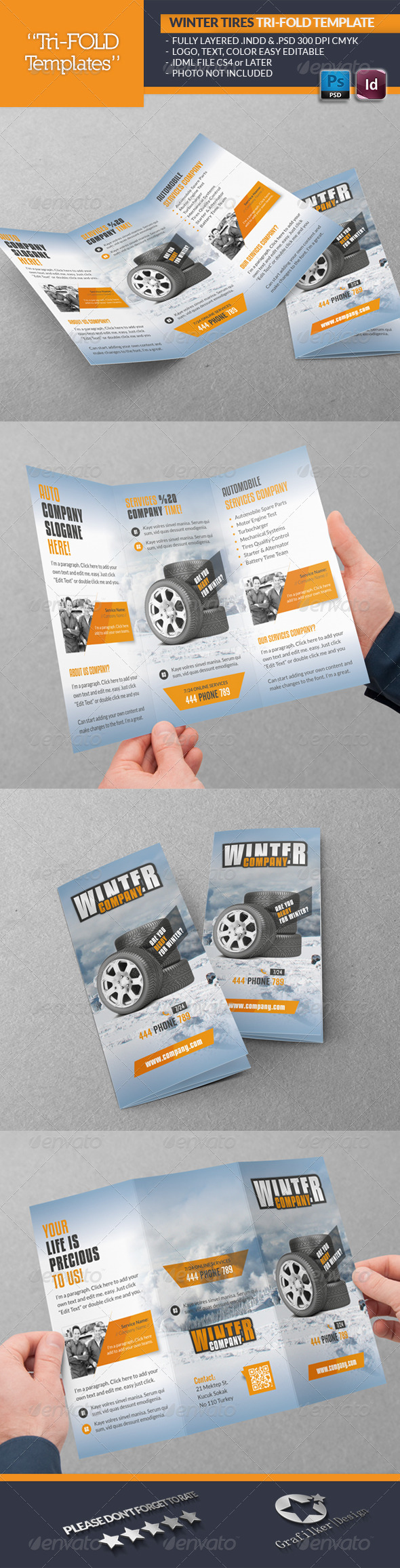 GraphicRiver Winter Tires Tri-Fold Template 6312283
