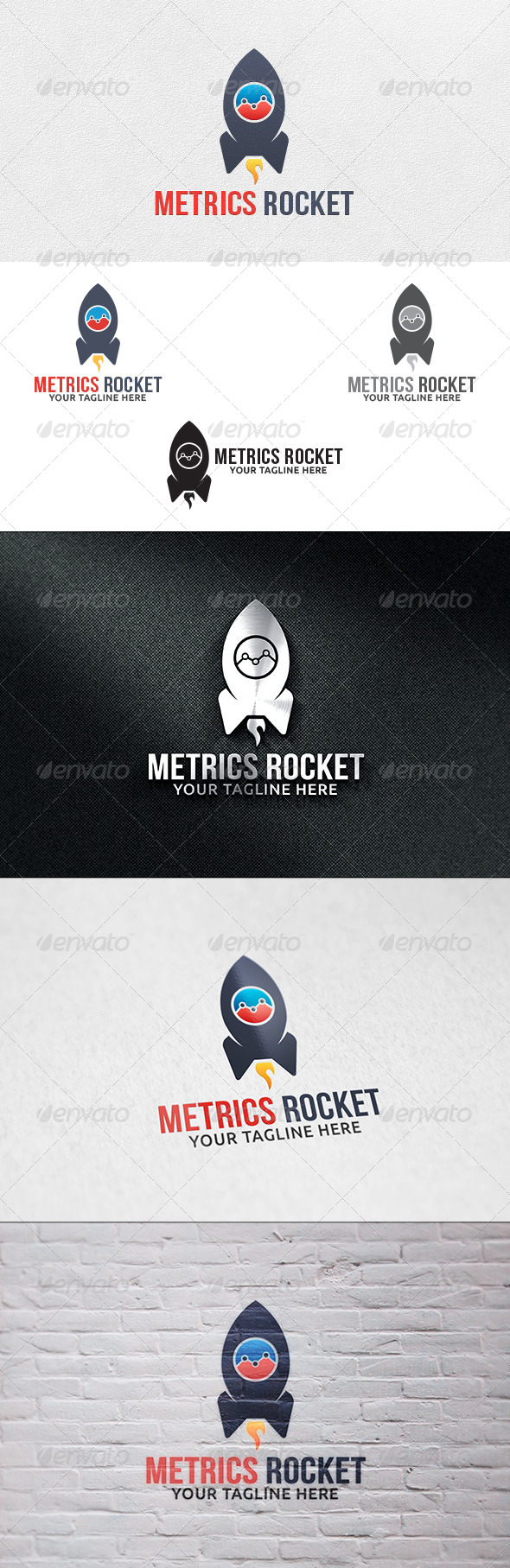 GraphicRiver Metrics Rocket Logo Template 6312639
