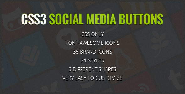CodeCanyon Social Media Buttons With Font Awesome Icons 6305212