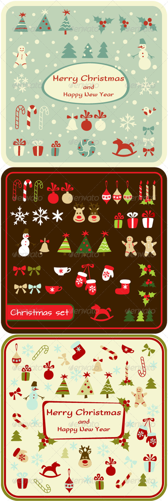 GraphicRiver Set of Christmas Design Elements and Cards 6312852