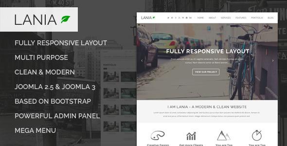 Lania - Responsive Joomla Template - Corporate Joomla