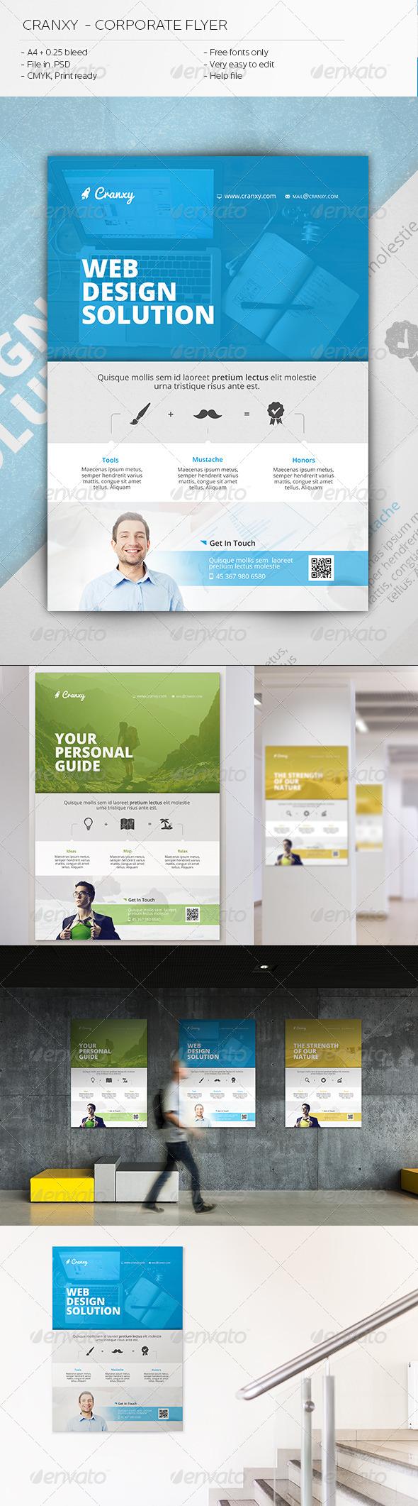 GraphicRiver Cranxy Corporate Flyer 6313088