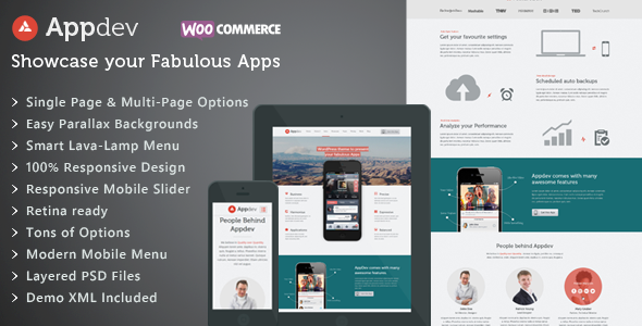 Appdev - Mobile App Showcase WordPress Theme - Software Technology