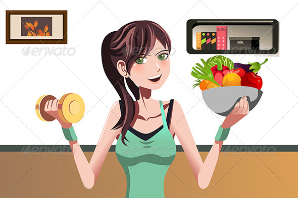 GraphicRiver Fitness Girl 6313279