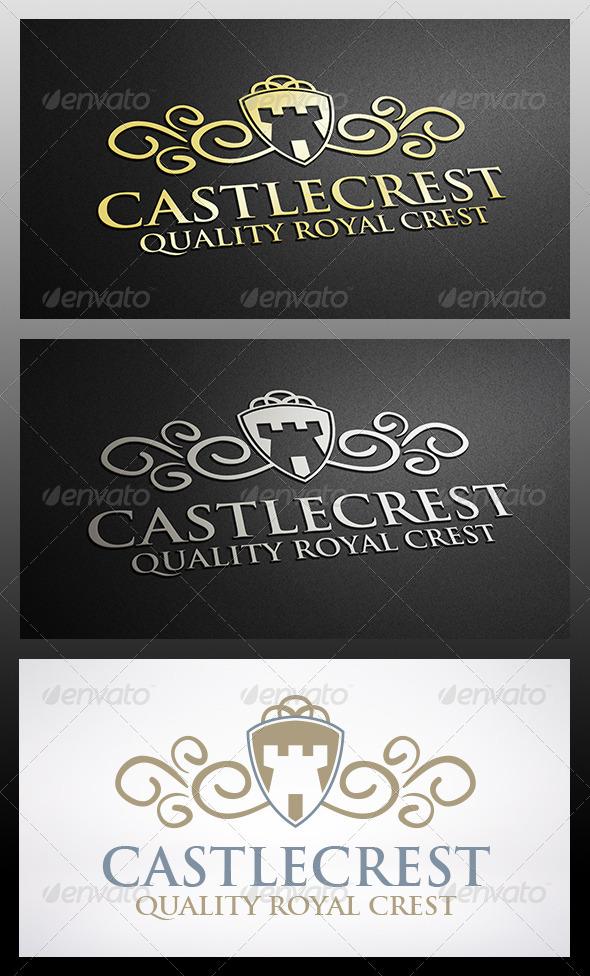 GraphicRiver Castle Shield Logo 6314018