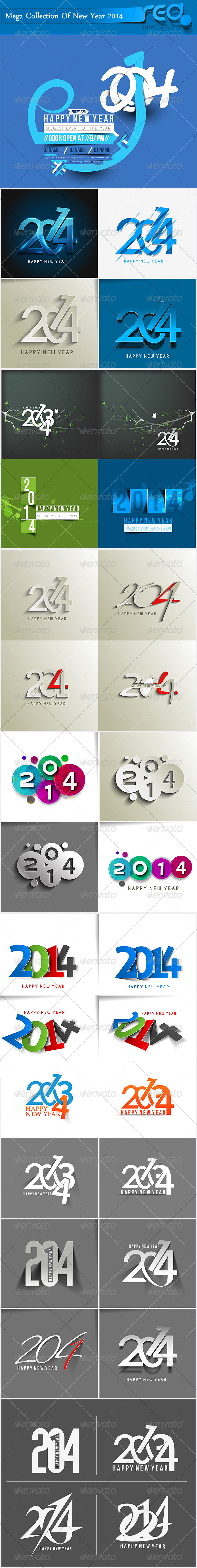 GraphicRiver Happy New Year 2014 Background 6314046