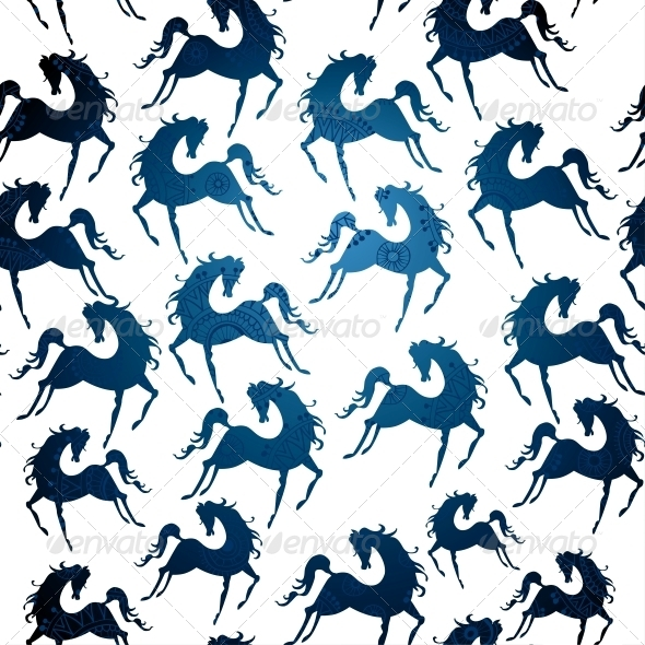 GraphicRiver Symbol of 2014 Horse Pattern 6314274
