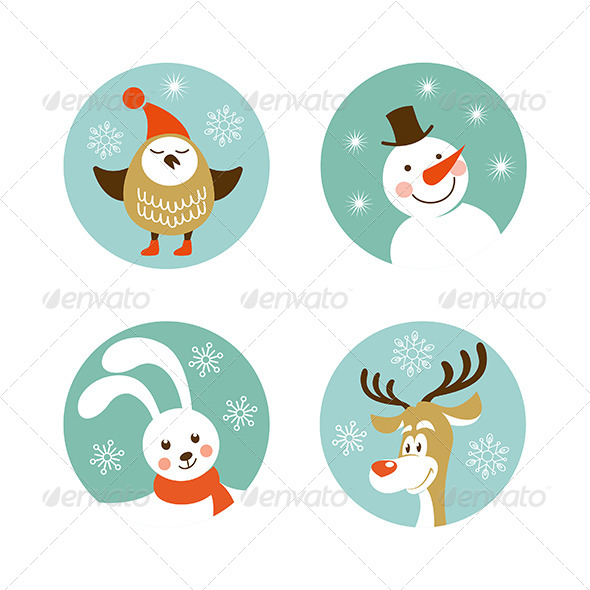 GraphicRiver Christmas Characters 6314300