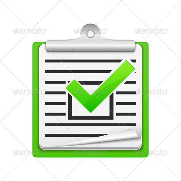 GraphicRiver Check List Icon 6314347