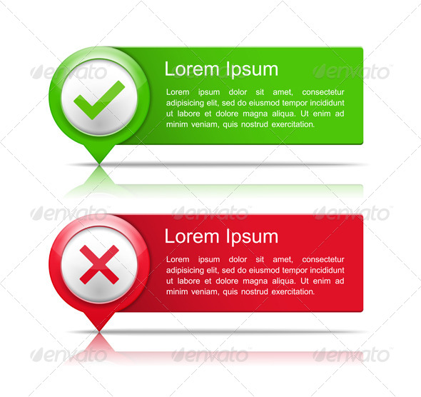 GraphicRiver Banners with Check and Cross Symbols 6314373