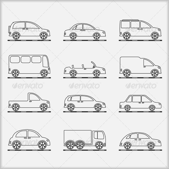GraphicRiver Cars Icons 6314386