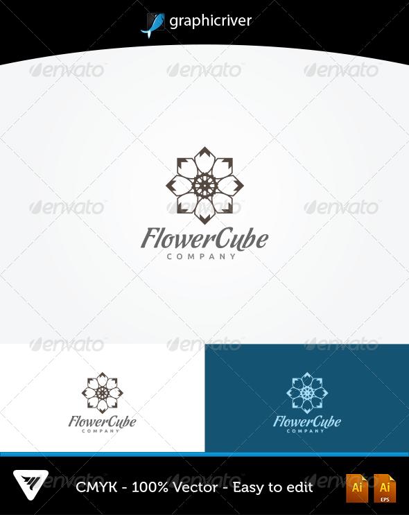 GraphicRiver Flower Cube Logo 6314400