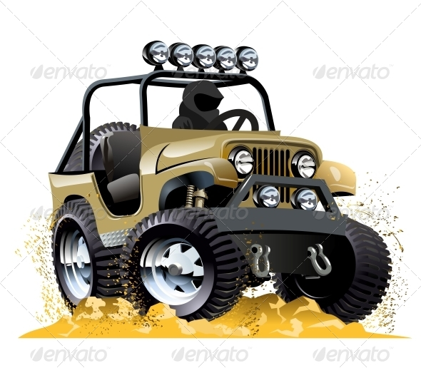 GraphicRiver Cartoon Jeep 6314770