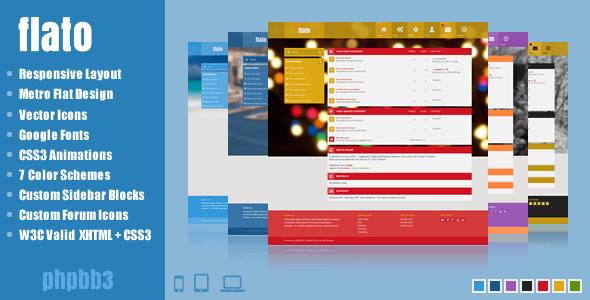 ThemeForest Flato Metro Inspired Responsive phpBB3 Theme 6314993