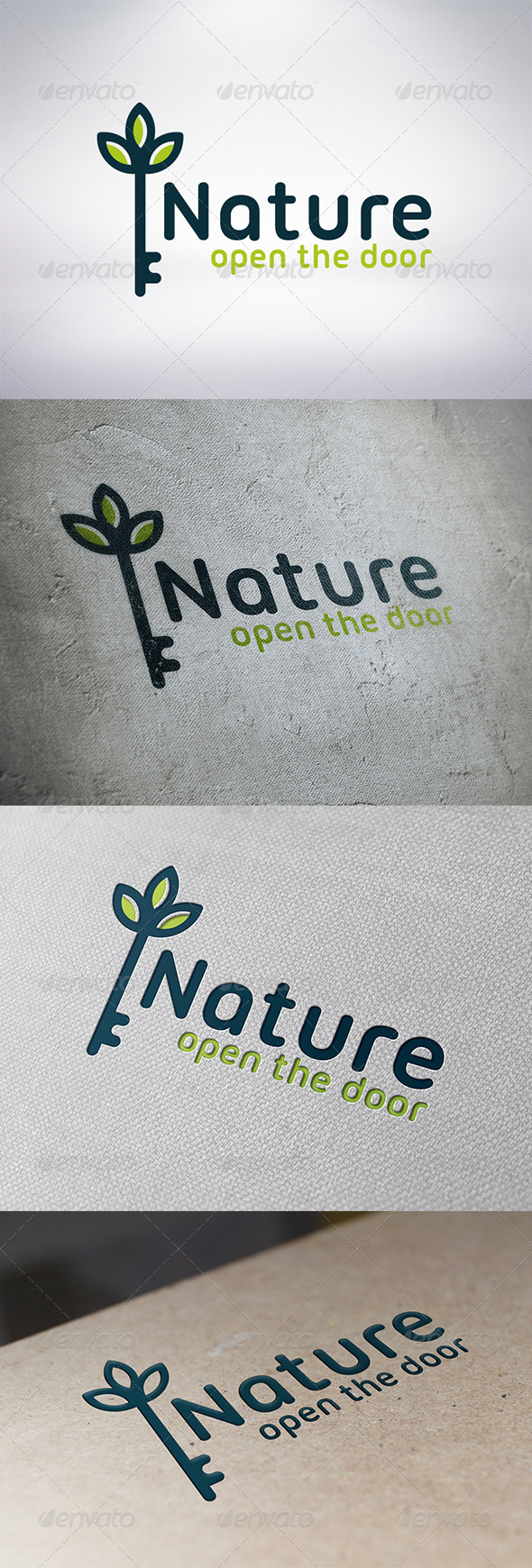 GraphicRiver Natural Key Logo Template 6315371