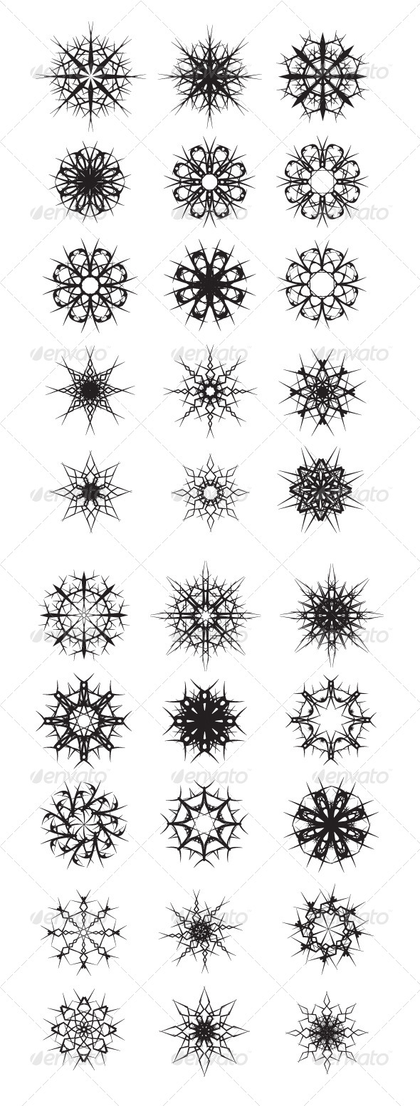 30 Snow Decorations  - Vectors
