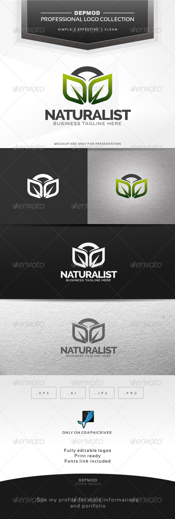 GraphicRiver Naturalist Logo 6315572